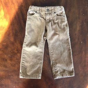 Janie & Jack 2T khaki corduroy pants